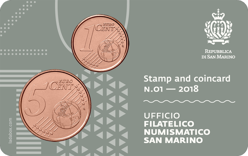 stamp and coin card san marino unesco1 2018 rovescio